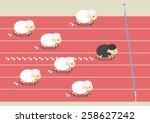 competition of sheep. the most... | Shutterstock .eps vector #258627242