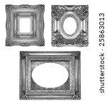 vintage silver ornate frames ... | Shutterstock . vector #25863013