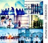 global business people... | Shutterstock . vector #258634202