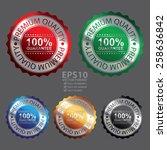 vector   metallic  premium... | Shutterstock .eps vector #258636842