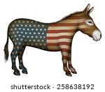 democrat donkey painted with... | Shutterstock . vector #258638192