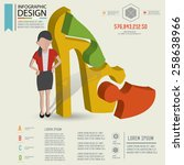 puzzle info graphic design... | Shutterstock .eps vector #258638966