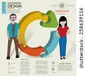 puzzle info graphic design... | Shutterstock .eps vector #258639116