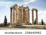 Temple of Olympian Zeus Greece Athens Ancient Remains Archeology