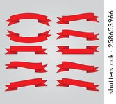 ribbon banners vector .  | Shutterstock .eps vector #258653966