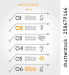 six linear infographic arrows.... | Shutterstock .eps vector #258679166