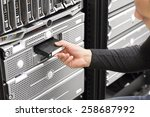 it consultant work with backup... | Shutterstock . vector #258687992