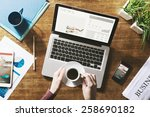 financial business news online... | Shutterstock . vector #258690182