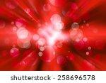 Abstract Red Burst Bokeh Light...