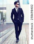 handsome stylish man in elegant ... | Shutterstock . vector #258698402