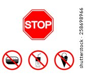 prohibition signs  set vector... | Shutterstock .eps vector #258698966