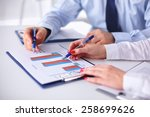 group of business people... | Shutterstock . vector #258699626