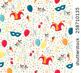 background with confetti ... | Shutterstock .eps vector #258710135