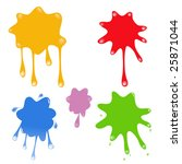 paint dripping | Shutterstock .eps vector #25871044