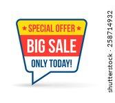 big sale tag for online shop.... | Shutterstock .eps vector #258714932