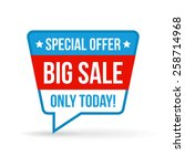 big sale tag for online shop....   Shutterstock .eps vector #258714968