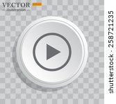 white circle  white button on a ... | Shutterstock .eps vector #258721235