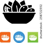 bowl of salad icon | Shutterstock .eps vector #258722552