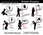 multiple diseases  ... | Shutterstock .eps vector #258733646