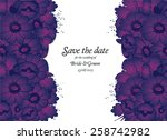 wedding invitation card with... | Shutterstock .eps vector #258742982