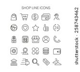 line shop icons vector set... | Shutterstock .eps vector #258743462