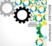 colorful engineering gear... | Shutterstock .eps vector #258744308
