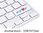 we love you button on keyboard  ... | Shutterstock . vector #258747266
