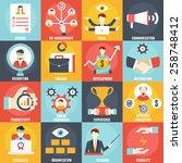 set of management human... | Shutterstock .eps vector #258748412