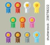 vector award prize ribbons in...
