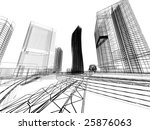 abstract architecture | Shutterstock . vector #25876063