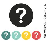 question icon.vector... | Shutterstock .eps vector #258761726