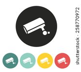 security camera icon.vector...   Shutterstock .eps vector #258770972