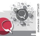 paper and hand drawn speech... | Shutterstock .eps vector #258771635