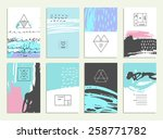 hand drawn collection of... | Shutterstock .eps vector #258771782