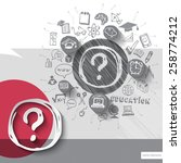 paper and hand drawn question...   Shutterstock .eps vector #258774212