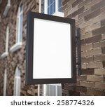 3d rendering of signboard | Shutterstock . vector #258774326