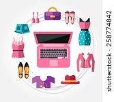 online shopping | Shutterstock .eps vector #258774842