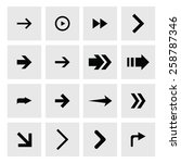 next arrow icon set. simple... | Shutterstock .eps vector #258787346