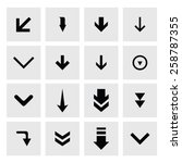 down arrow download icon set....
