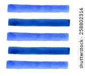 Blue Watercolor Banners. Vecto...
