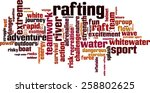 Rafting Word Cloud Concept....
