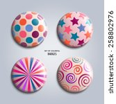 vector illustration. set of... | Shutterstock .eps vector #258802976