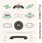 collection of labels and vector ... | Shutterstock .eps vector #258817712