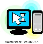 illustration of computer... | Shutterstock . vector #25882027