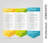 bright pricing table  banner ... | Shutterstock .eps vector #258824492