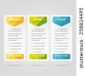 bright pricing table  banner ... | Shutterstock .eps vector #258824495