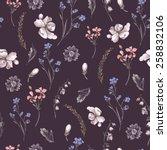vintage floral seamless...   Shutterstock .eps vector #258832106
