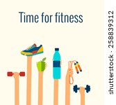 fitness concept flat isolated... | Shutterstock .eps vector #258839312