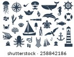 flat icons with sea creatures...