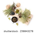 outdoor spa massage setting at... | Shutterstock . vector #258843278